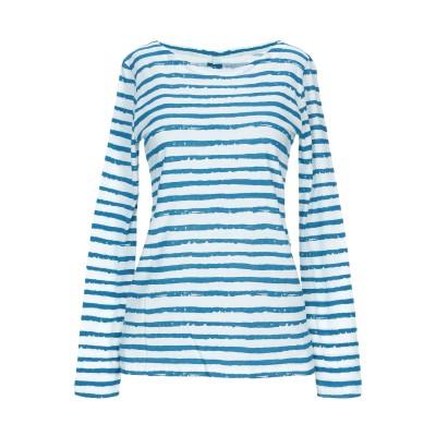 マジェスティック MAJESTIC FILATURES T シャツ ブルー 1 コットン 85% / カシミヤ 15% T シャツ
