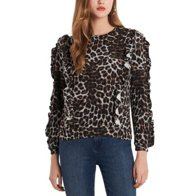 ワンステイト レディース ニット・セーター アウター Printed Ruffle Sweater