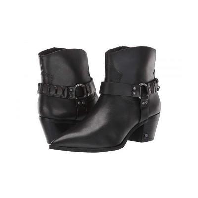 Sam Edelman サムエデルマン レディース 女性用 シューズ 靴 ブーツ アンクル ショートブーツ Riker - Black Vaquero Saddle Leather