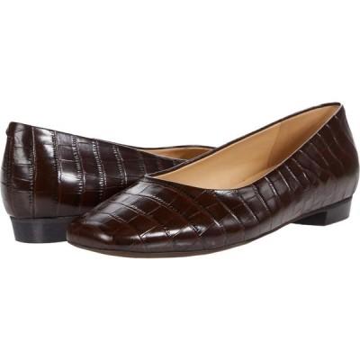 トロッターズ Trotters レディース スリッポン・フラット シューズ・靴 Honor Dark Brown Croco Leather