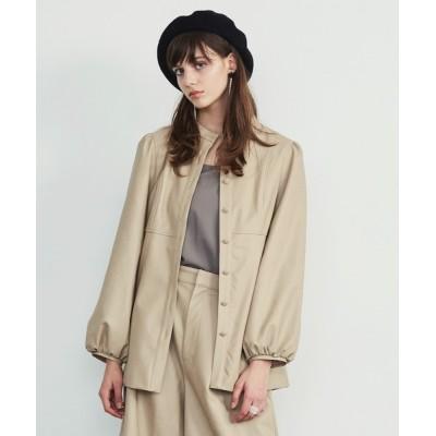 LA BELLE ETUDE / 【Belle vintage】ノーカラーレザージャケット WOMEN ジャケット/アウター > ノーカラージャケット