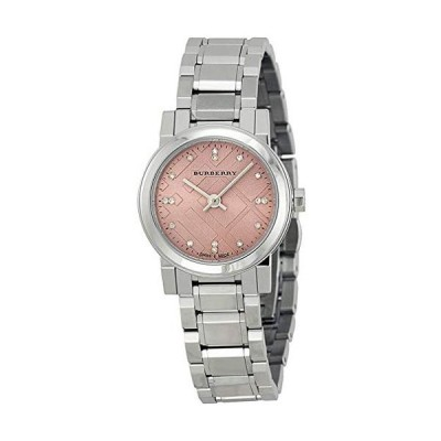 Swiss Rare Diamonds Silver Pink Dial 26mm Women Stainless Steel Wrist Watch The City BU9223
