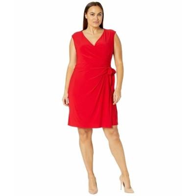 ラルフローレン ワンピース トップス レディース Plus Size Saida Cap Sleeve Day Dress Orient Red