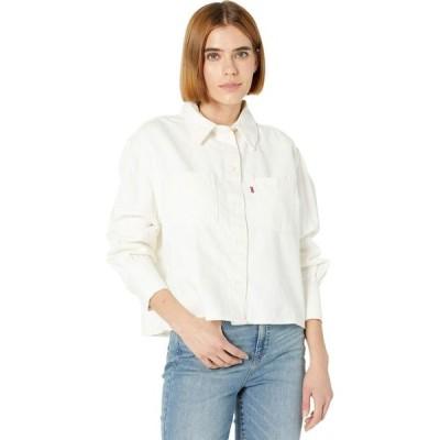 リーバイス Levi's Premium レディース ブラウス・シャツ トップス Zoey Pleat Utility Shirt Ecru Crew
