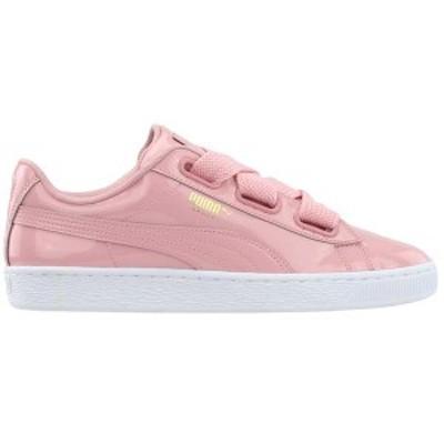 プーマ レディース スニーカー シューズ Basket Heart Lace Up Sneakers Bridal Rose/ Puma Team Gold