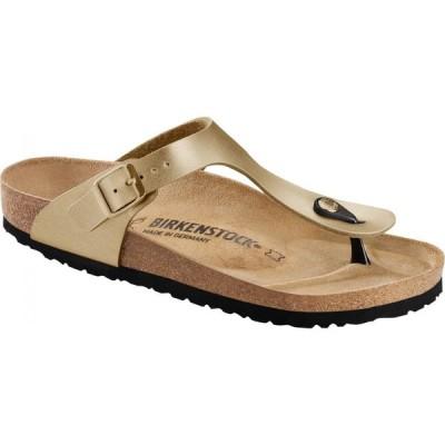 ビルケンシュトック Birkenstock レディース サンダル・ミュール シューズ・靴 Gizeh Birko-Flor Sandals Gold