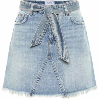 ジバンシー Givenchy レディース ミニスカート スカート Belted denim miniskirt Light Blue