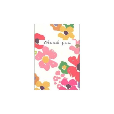 ミニグリーティング 多目的「ありがとう/花柄」バレンタイン 母の日 おしゃれ メッセージカード ギフト 贈り物 封筒付き