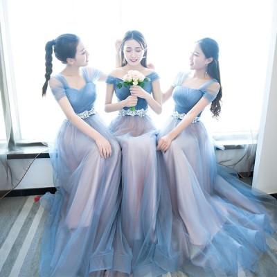 二次会 結婚式 ウェディングドレス 二次会 ウエディング ロングドレス 花嫁ドレス ブライズメイド ドレス ロングドレスlfz08
