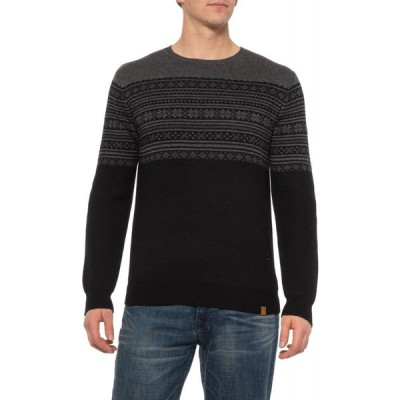 ネーヴェ Neve メンズ ニット・セーター トップス Black-Charcoal Taylor Crew Sweater - Merino Wool Blend Black/Charcoal