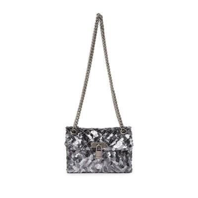 カートジェイガーロンドン レディース ショルダーバッグ バッグ Mini Brixton Sequins Lock Bag SILVER