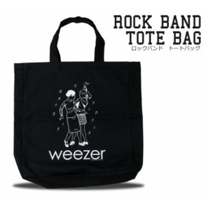 ロック エコ トートバッグ ウィーザー weezer メンズ レディース ロックファッション エコバッグ 通学 かばん