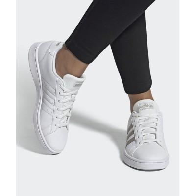 【アディダス】 グランド コート ベース [Grand Court Base Shoes] ユニセックス ホワイト 23.5cm adidas
