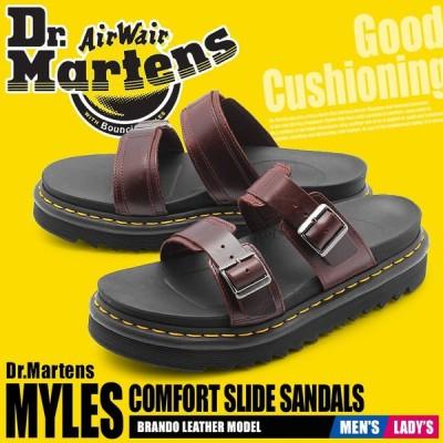 ドクターマーチン サンダル メンズ レディース マイルス MYLES 23523211 厚底 スライド コンフォート レザー ベルト 本革 新生活