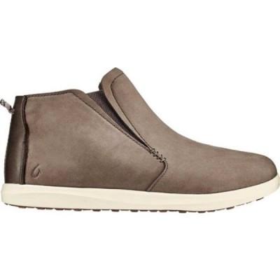 オルカイ OluKai レディース ブーツ チェルシーブーツ シューズ・靴 Hawai'iloa Manu Hope Chelsea Boot Taupe Grey/Off White Nubuck Leather