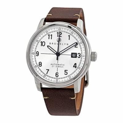 Brooklyn Watch Co. Gowanus 自動巻き シルバーダイヤル メンズウォッチ 8600A5