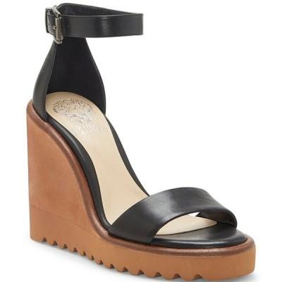 ヴィンスカムート レディース サンダル シューズ Gretam Leather Wedge Sandals