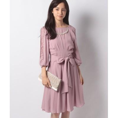 【アクシーズファム】 タックデザインドレス レディース 淡ピンク M axes femme