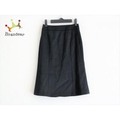 バーバリーブラックレーベル Burberry Black Label スカート サイズ36 S レディース - 黒 ひざ丈 新着 20200616