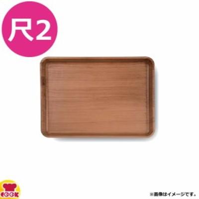 福井クラフト 超耐熱 柾木目長角トレー 尺2 弱ノンスリップ加工 和柾目 艶消弱SL(代引不可)