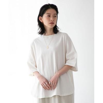 coen レディース FEELING MADE UVカット サイドスリット ビッグシルエット ロングTシャツ トップス Tシャツ/カットソー その他1 M