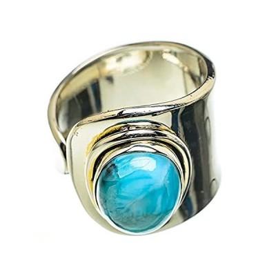 【並行輸入品】Ana Silver Co Larimar Ring Size 8 Adjustable (925 Sterling Silver) - Handma