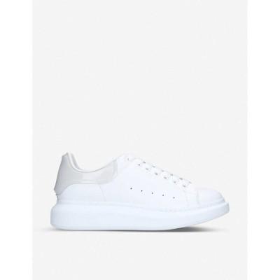 アレキサンダー マックイーン ALEXANDER MCQUEEN メンズ スニーカー シューズ・靴 Show leather and silicone platform trainers WHITE