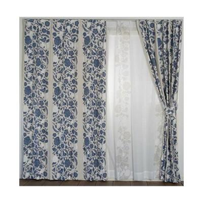 スミノエ(Suminoe) 遮光カーテン ブルー 100×135cm クコ 洗える 1枚入 V1305