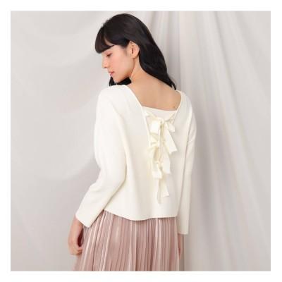 【クチュール ブローチ/Couture brooch】 バックリボンニットトップス