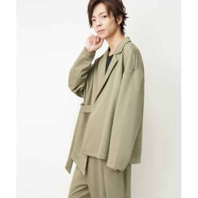 おしゃれスタ / ベルトデザインテーラードジャケット(RE) MEN ジャケット/アウター > テーラードジャケット