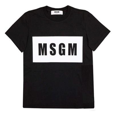 エムエスジーエム MSGM Tシャツ 2641MDM95-BK Sサイズ ブラック