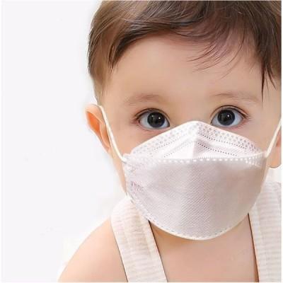 不織布マスク  子供用 柳葉型 3D立体加工 4層構造 使い捨て 10枚入れ 衛生用品 防塵 花粉症対策 男女兼用 オシャレ