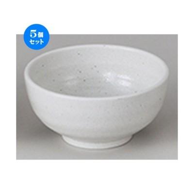 5個セット和陶オープン 新生白マット水晶 5.5うどん鉢 [ 17 x 8.5cm ] 【 料亭 旅館 和食器 飲食店 業務用 】