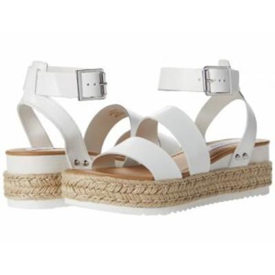 Steve Madden スティーブマデン レディース 女性用 シューズ 靴 ヒール Codes Wedge Sandal White Leather【送料無料】