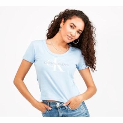 カルバンクライン Calvin Klein Jeans レディース Tシャツ トップス organic baby t-shirt Chambray