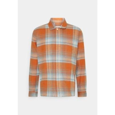 フォーク メンズ ファッション PATCH - Shirt - blue amber