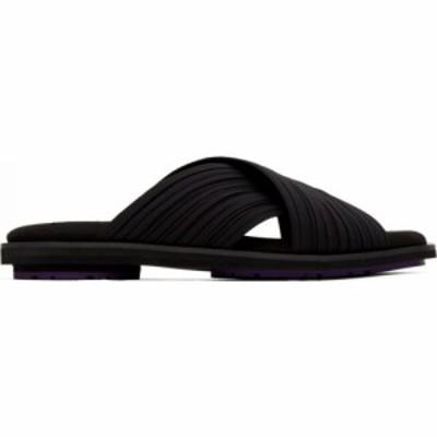 プリーツ プリーズ イッセイ ミヤケ Pleats Please Issey Miyake レディース サンダル・ミュール シューズ・靴 black pleats sandals Bla