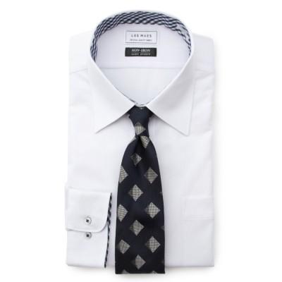 レギュラーカラー ニットシャツ ノンアイロンストレッチ レギュラーフィット LES MUES