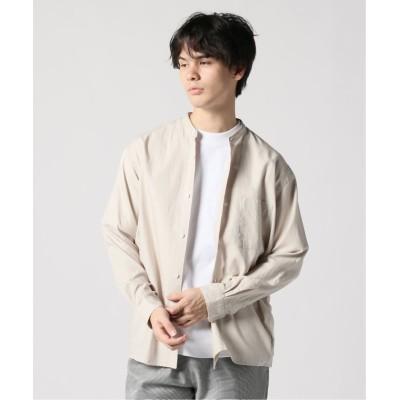 【ジャーナルスタンダード】 No−name チェックバンドカラーシャツ メンズ ナチュラル M JOURNAL STANDARD