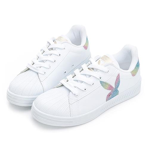 PLAYBOY  Shiny Dreamer 閃閃霓光貝殼小白鞋 -白彩(Y7221)