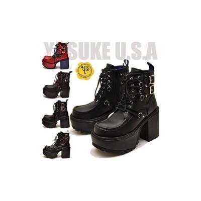 YOSUKE ヨースケ 靴 厚底ブーツ ショート丈 レディース ※(予約)は3営業日内に発送