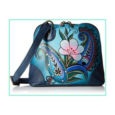 Anna by Anuschka Leather Small Multi Compartment Zip-Around Organizer, Denim Paisley Floral並行輸入品