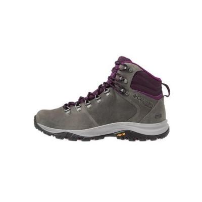 コロンビア レディース スポーツ用品 100MW TITANIUM OUTDRY - Hiking shoes - ti grey steel/black cherry