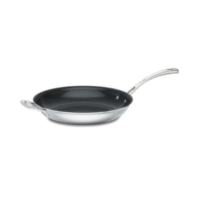 Cuisinart FCT22-30HNS French Classic Tri-Ply Stainless 12-Inch Nonstick Skillet with Helper Handle,Silver【並行輸入品】
