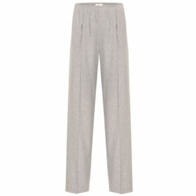 ヴィンス Vince レディース ボトムス・パンツ High-rise wide-leg flannel pants
