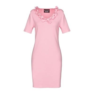 BOUTIQUE MOSCHINO ミニワンピース&ドレス ピンク 40 レーヨン 65% / ナイロン 35% ミニワンピース&ドレス