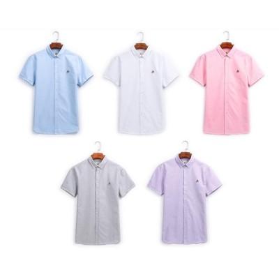 二枚送料無料 メンズシャツ 夏 半袖 スーツシャツ 五分袖 フォマールシャツ 着重ね 通勤 ビジネス カジュアル ノーマル 棉 5色 S〜4XL
