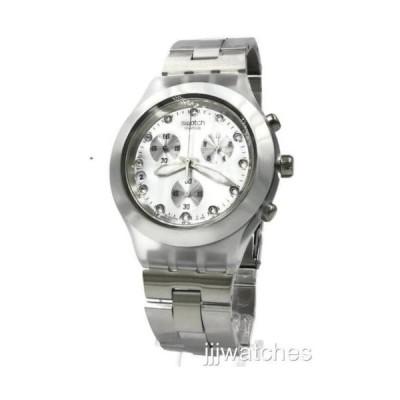 腕時計 スウォッチ Swatch Irony Full Blooded シルバー クロノグラフ デイト 腕時計 43ミリ SVCK4038G 165