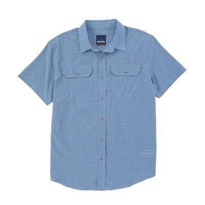 プラーナ メンズ シャツ トップス Prana Cayman Short-Sleeve Woven Shirt Blue Note