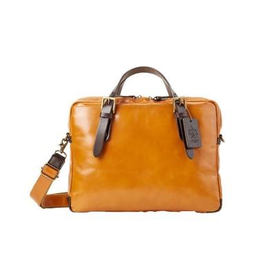 【カバンのセレクション】 ツェハ ブリリアント ビジネスバッグ メンズ 本革 日本製 薄マチ A4 Zeha 290-9805 ユニセックス キャメル フリー Bag&Luggage SELECTION